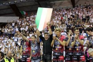 Esultanza Sirci e giocatori Perugia