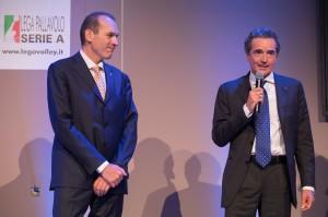 Righi con Lucio Zanon, Presidente Credem Banca