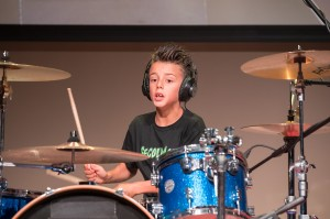 Edoardo Lovatti alla batteria