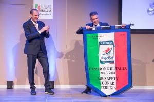 Sirci, Presidente Perugia ritira lo stendardo per lo Scudetto