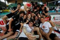 Il selfie della vittoria di Volley Treviso