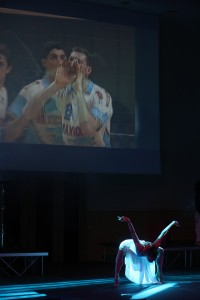 Una splendida immagine della ballerina Valentia Marino, che anima dal vivo il video dedicato ai 30 anni di Lega