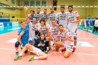 Esultanza finale di Bergamo per la vittoria