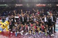 Il gruppo Sir Safety Conad Perugia vincitore del trofeo