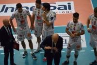 time out del coach della Lube Medei