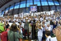 Il Presidente Sirci festeggia con i propri tifosi la vittoria di Supercoppa
