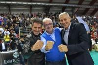 I Presidenti di Perugia e Milano Gino SIRCI e Lucio FUSARO con Stefano Recine