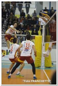 L'attacco a segno dell'opposto Luca Bigarelli