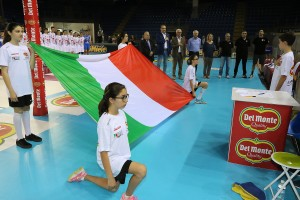 Finale Del Monte Junior League - il tricolore durante l'inno