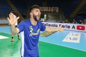 Finale Del Monte Junior League - l'esultanza del libero Damiano Catania