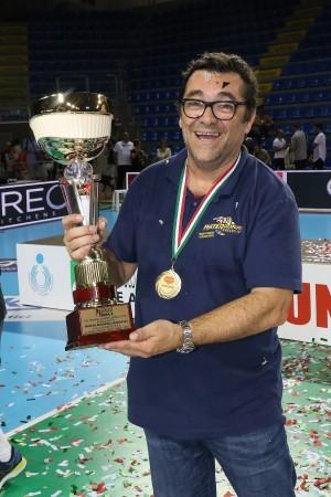 Finale Del Monte Junior League - Il presidente Miccolis festeggia la vittoria di Castellana Grotte
