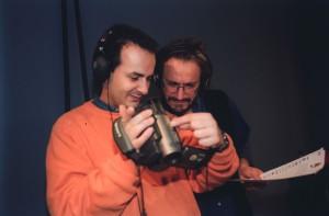 Fabrizio Rossini e Marco Caronna backstage