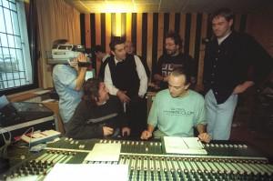 Con Guido Benigni al mixer, De Giorgi, Brogioni, Caronna e Lavorato