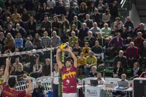 palla alzata da Paolucci Adriano (Roma volley)