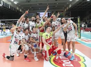Esultanza finale Itas Trentino