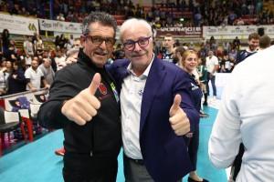I due presidenti:Lucio Fusaro e Gino Sirci