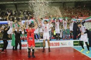 La Lube riceve il trofeo Tricolore