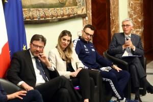 Lorenzo Dallari con a fianco Lorenzo Codarin