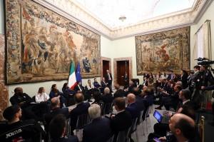 La Sala del ricevimento a Palazzo Chigi