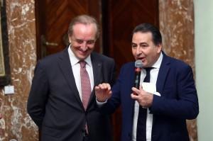 Il Presidente FIPAV Cattaneo e Fefé De Giorgi