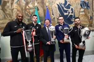 Simon, Diamantini, Codarin e Massari con Giancarlo Giorgetti