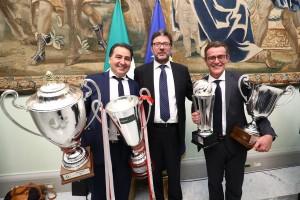 De Giorgi e Lorenzetti con il sottosegretario Giorgetti