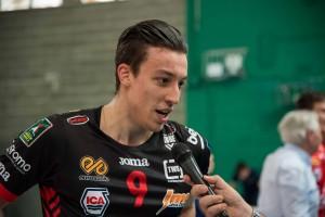 Francesco Recine dopo la vittoria della Del Monte Junior League della Cucine Lube Civitanova
