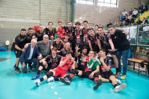 La festa per la vittoria della Del Monte Junior League 2019 conquistata della Cucine Lube Civitanova