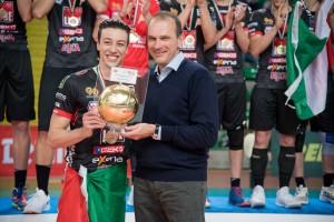 Francesco Recine, schiacciatore della Cucine Lube Civitanova, MVP della Del Monte Junior 2019