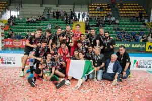 I festeggiamenti per la conquista della Del Monte Junior League 2019 conquistata della Cucine Lube Civitanova