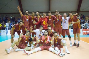 Esultanza Roma Volley