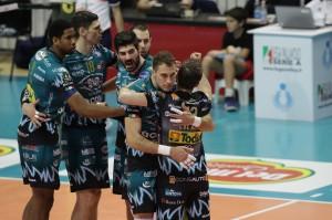 I giocatori di Perugia esultano