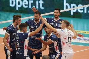 I giocatori di Ravenna esultano a fine partita
